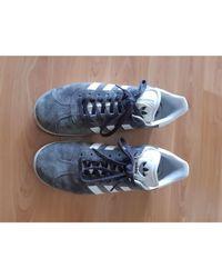 Baskets coton Gazelle gris Adidas en coloris Gray