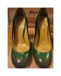 Escarpins cuir verni multicolore Miu Miu