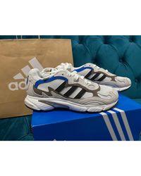 Baskets toile blanc Adidas pour homme en coloris White