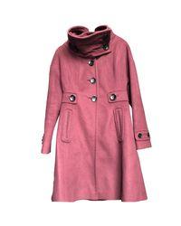 Manteau laine mélangée autre Karen Millen en coloris Pink