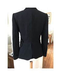 Blazer, veste tailleur laine noir Givenchy en coloris Black