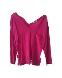 Blouse soie rose Sonia by Sonia Rykiel en coloris Pink