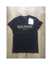 Tee-shirt coton noir Balmain pour homme en coloris Black