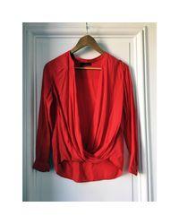 Chemise coton rouge The Kooples en coloris Red