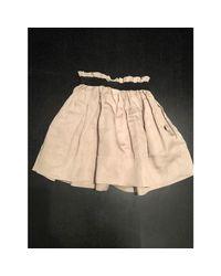 Jupe courte lin beige Étoile Isabel Marant en coloris Natural