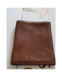 Porte-cartes cuir marron Longchamp pour homme en coloris Brown
