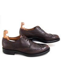Chaussures à lacets cuir marron Tod's pour homme en coloris Brown