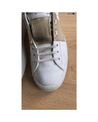 Baskets cuir Open blanc Valentino en coloris White