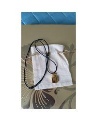 Pendentif, collier pendentif métal doré Chanel en coloris Metallic