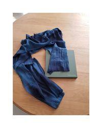 Echarpe coton bleu Longchamp pour homme en coloris Blue