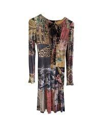 Robe mi-longue elastique multicolore Roberto Cavalli