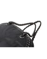 Sac à main en cuir cuir irisé noir Chanel en coloris Black