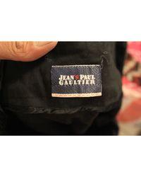 Jupe mi-longue viscose noir Jean Paul Gaultier en coloris Black