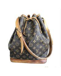 Sac en bandoulière en cuir cuir Noé marron Louis Vuitton en coloris Brown