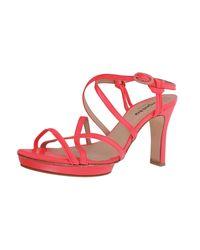 Sandales compensées cuir rose Repetto en coloris Pink