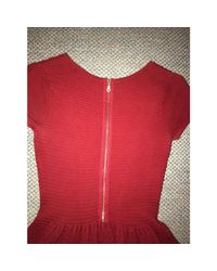 Robe courte coton rouge Sandro en coloris Red