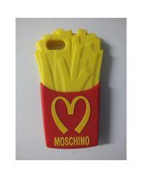 Etui iPhone plastique jaune Moschino en coloris Multicolor
