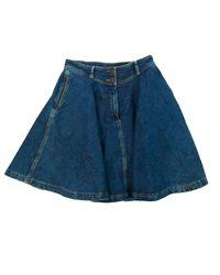 Jupe en jean denim, jean bleu Maje en coloris Blue