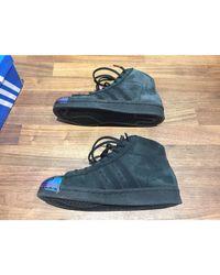 Baskets cuir multicolore Adidas en coloris Blue