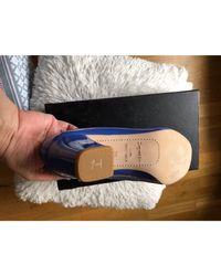 Ballerines cuir bleu Repetto en coloris Blue