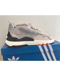 Baskets cuir gris Adidas pour homme en coloris Gray