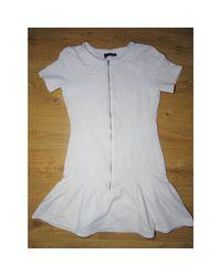 Robe courte polyamide blanc The Kooples en coloris White