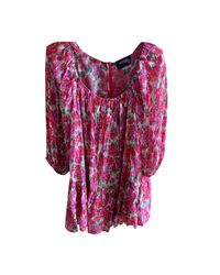 Robe courte coton rose The Kooples en coloris Pink