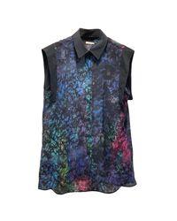 Chemisier soie multicolore Sandro en coloris Blue
