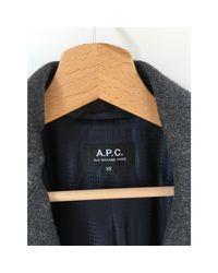Caban laine gris A.P.C. en coloris Gray