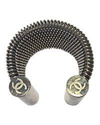 Bracelet acier argent Chanel en coloris Metallic
