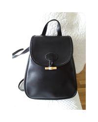 Sac à main en cuir cuir Roseau noir Longchamp en coloris Black