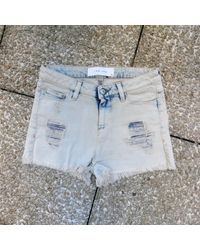 Short coton bleu IRO en coloris Blue