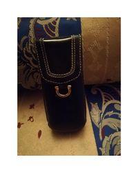 Pochette cuir noir Lancel en coloris Black
