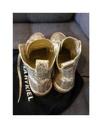 Baskets a paillettes doré Sonia Rykiel en coloris Metallic