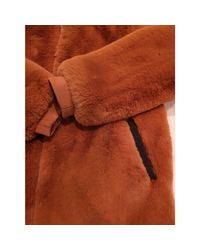 Manteau polyester beige Maje en coloris Natural