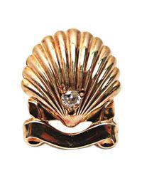 Pin's or jaune doré Cartier en coloris Metallic
