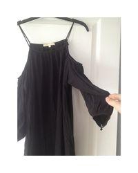Robe courte polyester noir Maje en coloris Black