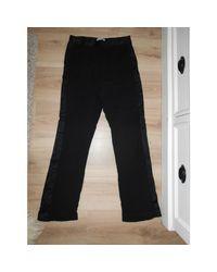 Pantalon droit viscose noir Sandro en coloris Black