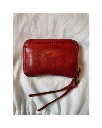 Portefeuille cuir verni rouge Zadig & Voltaire en coloris Red