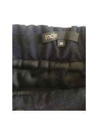 Short laine bleu Maje en coloris Blue