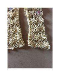 Gilet, cardigan coton jaune Moschino en coloris Multicolor