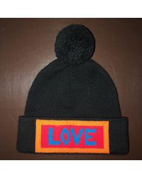 Bonnet laine noir Taille unique Fendi pour homme en coloris Black