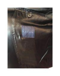 Veste de costume laine mélangée noir Lanvin pour homme en coloris Black