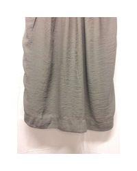 Robe courte soie gris Sandro en coloris Gray