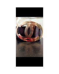 Ceinture large cuir marron Chanel en coloris Brown