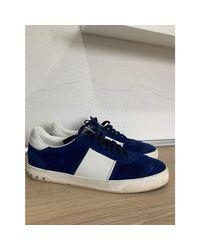 Baskets daim bleu Valentino pour homme en coloris Blue
