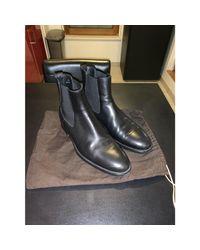 Bottines cuir noir Tod's pour homme en coloris Black