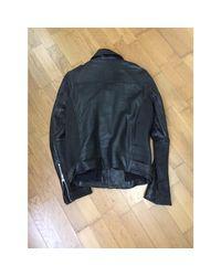 Veste cuir noir IRO pour homme en coloris Black