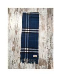 Echarpe cachemire bleu Burberry pour homme en coloris Blue