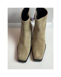 Bottines & low boots à talons daim beige Proenza Schouler en coloris Natural